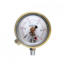 EXPLOSION PROTECTED PRESSURE GAUGE WITH CONTACT